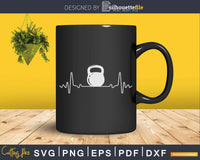 Kettlebell Frequency Heartbeat Svg Dxf Cricut Cut Files