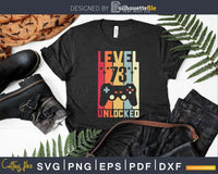 Level 73 Unlocked Video Gamer 73rd Birthday Svg T-shirt