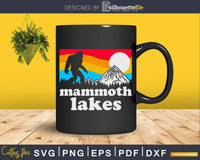 Mammoth Lakes Bigfoot Mountains svg designs cut files