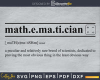 Mathematician definition svg printable file