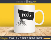 Montana MT Roots Home Native Map svg cricut silhouette files
