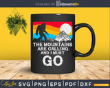 Mountains are Calling & I Must Go Funny Bigfoot 80's Vintage