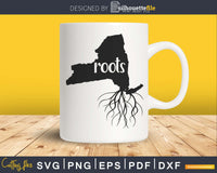New York NY Roots Home Native Map silhouette cricut cut