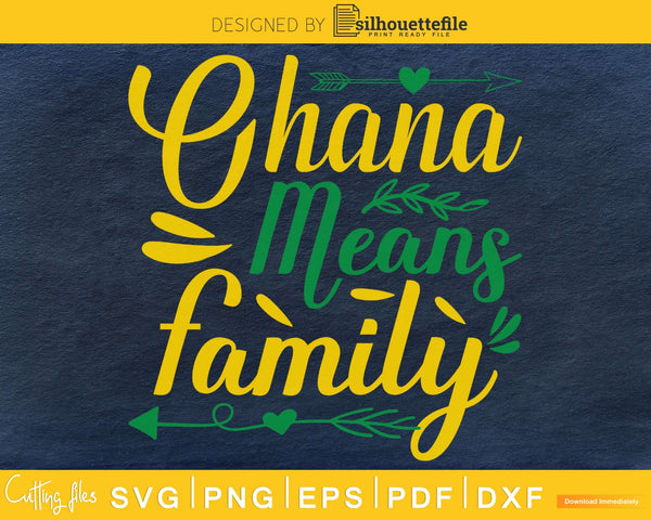 Ohana means family SVG PNG Cutting printable file
