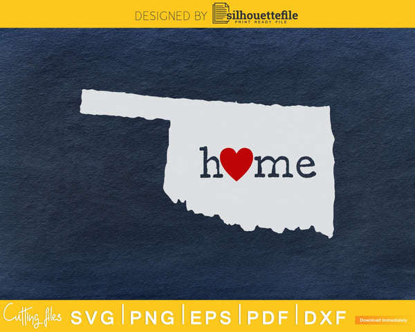 Oklahoma OK Home Heart Native Map svg cricut cut png digital