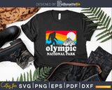 Olympic National Park SVG PNG dxf Silhouette Cut Files