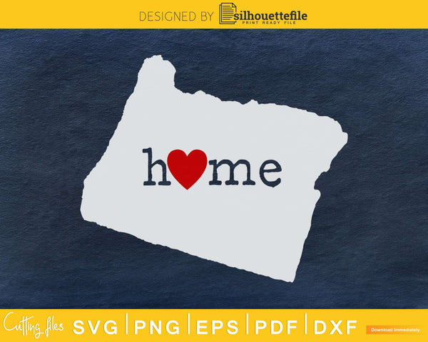 Oregon OR Home Heart Native Map svg dxf png cricut cut