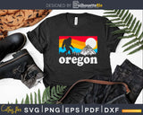 Oregon Pride Bigfoot Mountains 80's Vintage Nature Design