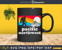 Pacific Northwest Bigfoot Mountains svg designs cut files