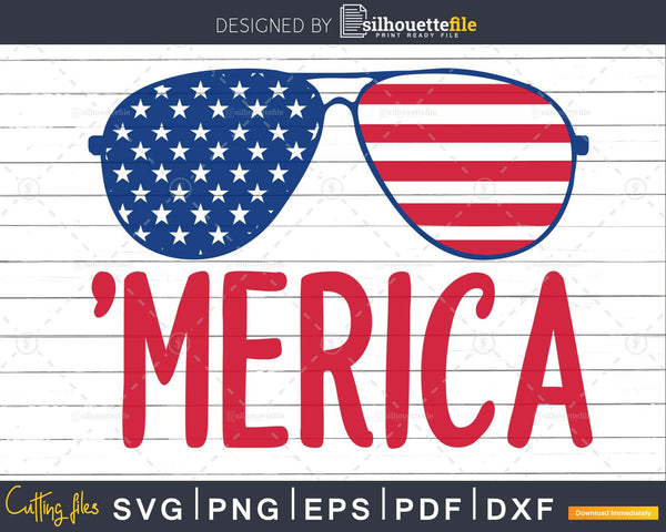Patriotic Sunglasses July 4th Svg png Files for Cricut and