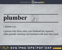 Plumber definition svg printable file