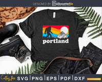 Portland Oregon Bigfoot & Mountains Outdoors svg designs cut
