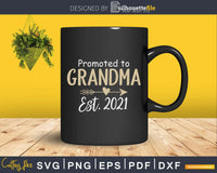 Promoted to Grandma Est 2021 Mothers Day New Mimi Svg Png