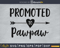 Promoted To Pawpaw SVG PNG Cutting Printable File