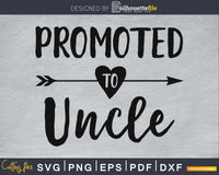Promoted To Uncle SVG PNG Cutting print-ready file