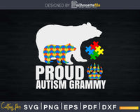 Proud Grammy Bear Autism Awareness Svg Dxf Png Design Files