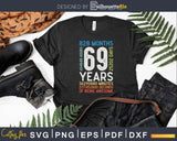 Retro Vintage 69 Years Old Classic 69th Birthday 828 Months
