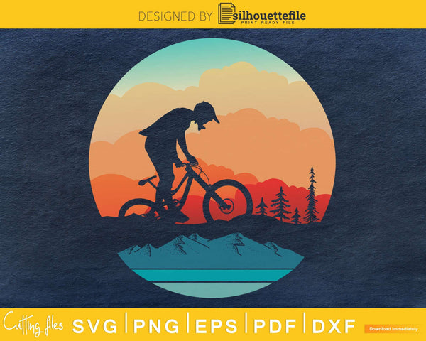 Retro vintage style design Mountain Bikers Biking svg craft