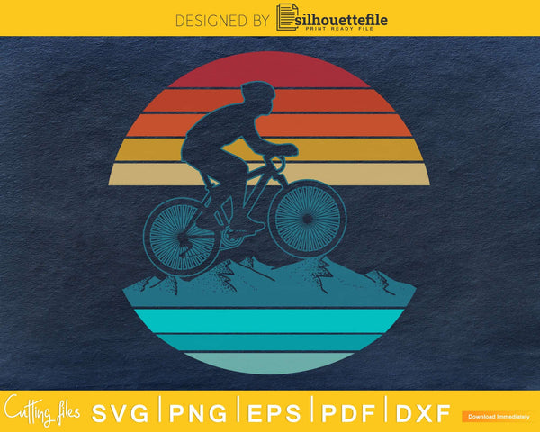 Retro vintage style design Mountain Bikers Biking svg