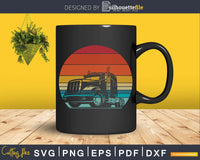 Retro vintage style design Trucker Driver svg craft cut