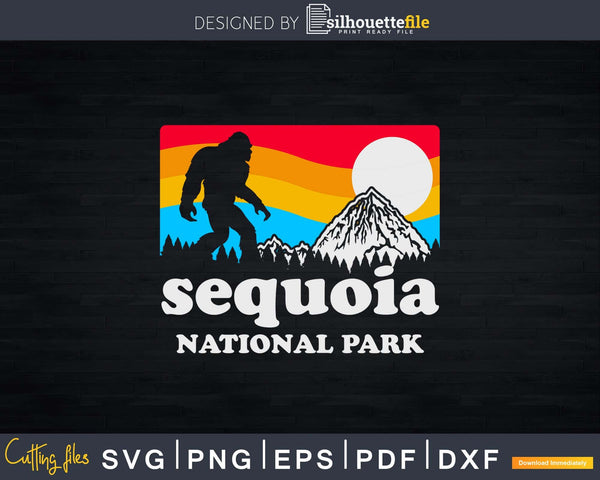 Sequoia National Park California Bigfoot Mountains Svg Shirt