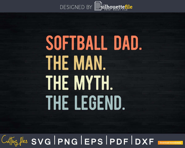 Softball Svg Print Ready Files Available On Silhouettefile Com Silhouettefile