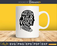 Speak your mind even if voice shakes quote notorious rbg Svg