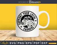 Support your local farmers tractor svg dxf cutting files