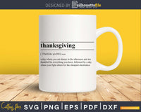 Thanksgiving definition svg printable file