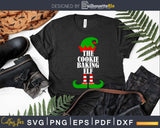 The cookie baking Elf svg dxf png cricut cutting file