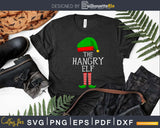 the hangry elf svg png dxf cricut craft cut files
