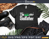 The Sodfather Parody Funny Lawn Landscaping Dad Svg Design