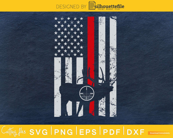 Then red line deer hunting American svg file
