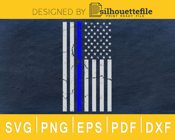 Thin Blue line US flag svg cricut digital files