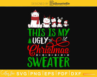 This is my ugly christmas sweater svg digital cutting