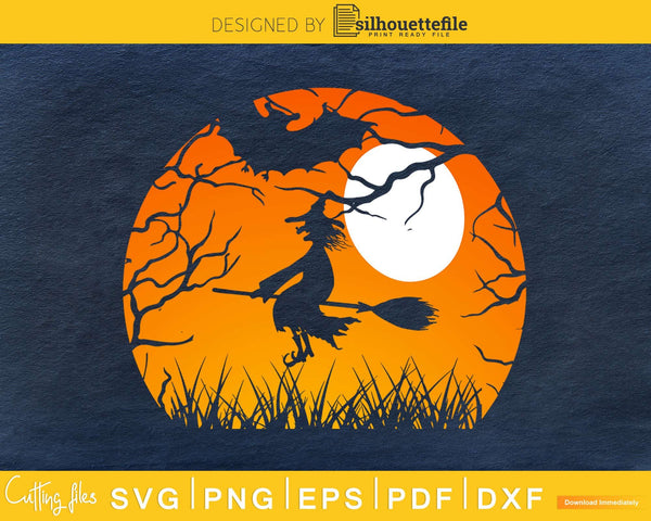 Trick Or Treat Halloween retro silhouette svg craft cut
