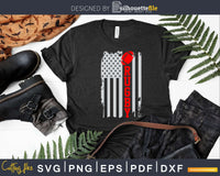 USA Flag Rugby Vintage Lover Svg Dxf Cut Files