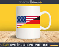 USA Germany Dual Flag Sticker svg cricut png digital files
