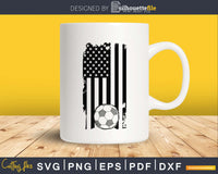 USA Soccer Flag Distressed Grunge svg cricut digital cutting