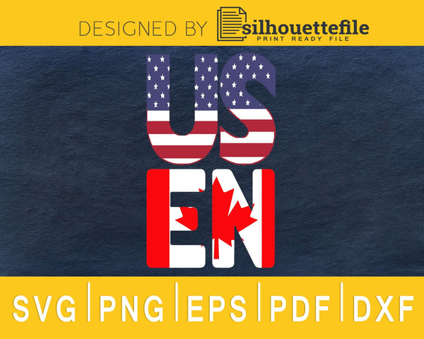 USEH America Canada Flag svg cricut cut digital cutting