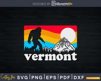 Vermont Pride Bigfoot Mountains Retro Nature Svg Shirt