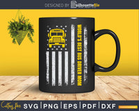 Vintage American Flag World's Best School Bus Driver Mom Svg