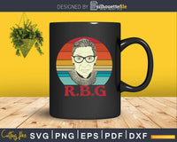 Vintage Notorious RBG Ruth Bader Ginsburg Svg Printable cut