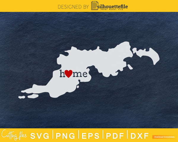 Virgin Islands VI Home Heart Native Map svg cricut cut png