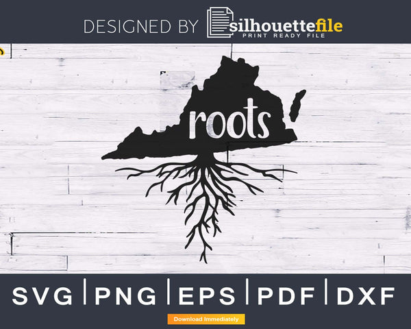Virginia VA Roots Home Native Map svg cricut cut silhouette
