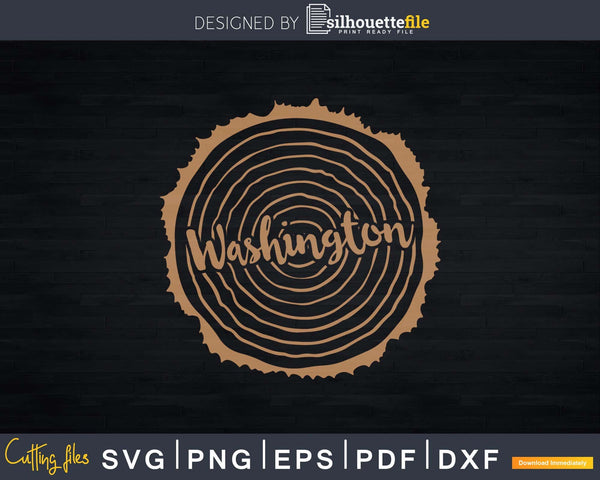 Washington Lumberjack Carpenter Trees Woodworking Nature Svg