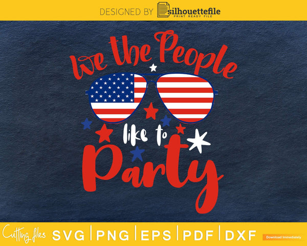 We the People like to Party 4th of July Independence Day svg