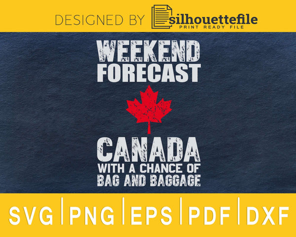 weekend forecast Canada with a chance of bag and baggage svg