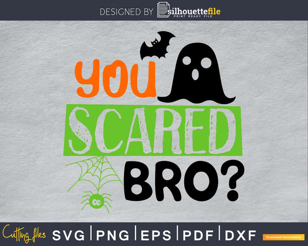You Scared Bro halloween cricut svg craft cut files