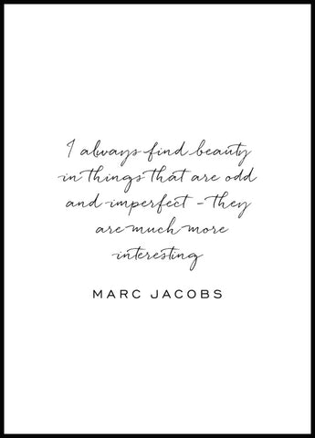 Marc Jacobs Poster